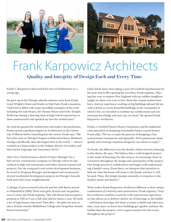 Frank Karpowicz Architects