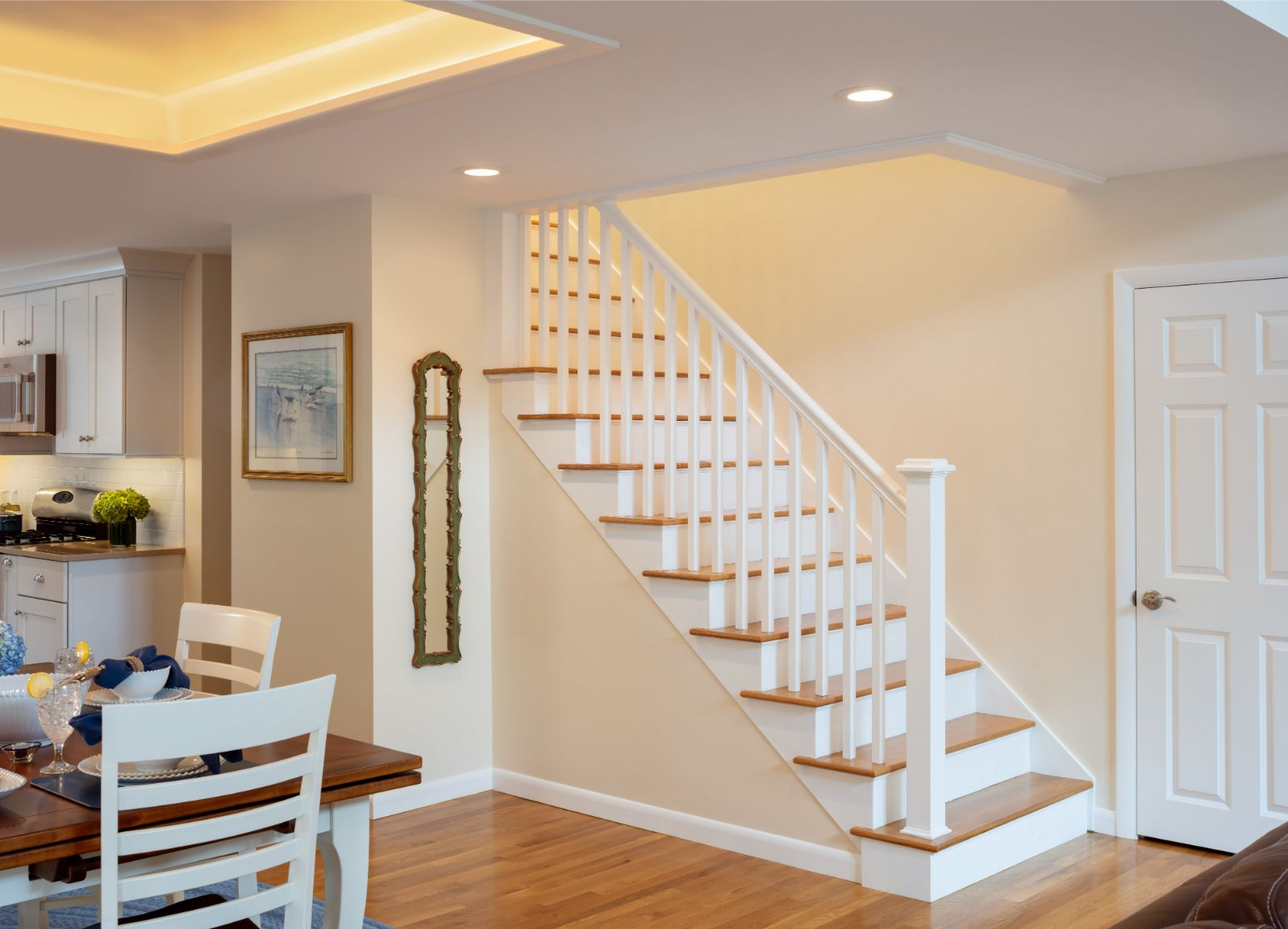 Saunderstown Cape staircase